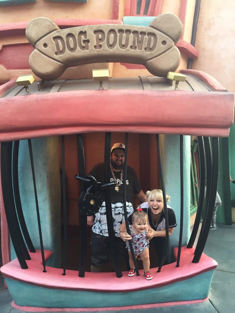Toddler in Disneyland